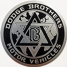24Designs Compatible Dodge Brothers Bros Stick on Emblem Black