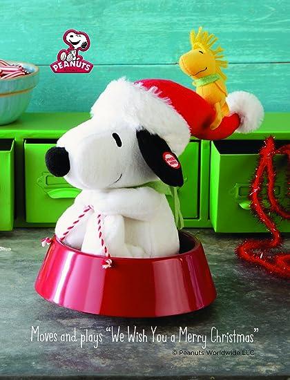 Hallmark Peanuts Sledding Snoopy Woodstock Christmas Plush Musical Spins NWT