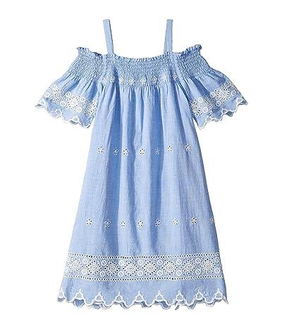 Ella Moss Girl Eyelet Dress (Big Kids) (Chambray) Girl