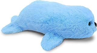 Fluffuns Seal Stuffed Animal - Stuffed Seal Plush Toys - 9 Inch Plush Seal (Blue)
