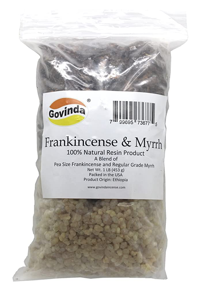 石の価格挨拶Govinda - Frankincense & Myrrh Resin Regular Grade - 0.5kg