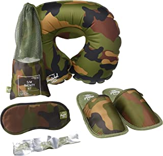 Herschel Travel Amenity Kit-Slippers, Eyemask & Pillow, Small/Medium