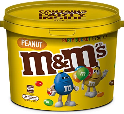 M&M's Peanut Chocolate Party Size Bucket (575g) (Packaging may vary)
