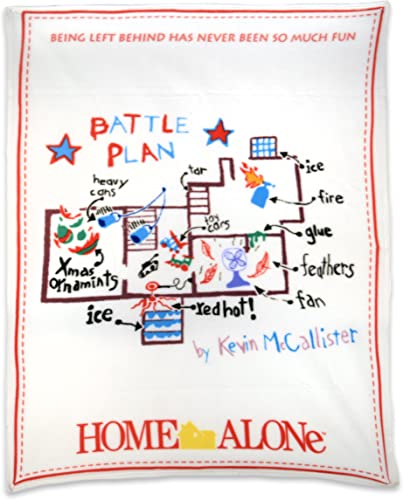 NECA Home Alone Fleece Throw Battle Plan Fleece Blanket by NECA