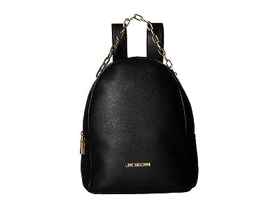 LOVE Moschino Luminous Chain Backpack (Black) Backpack Bags