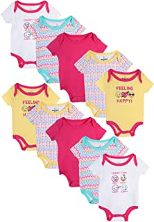 Baby Boy's and Girl's Short Sleeve Bodysuits (10 Pack)