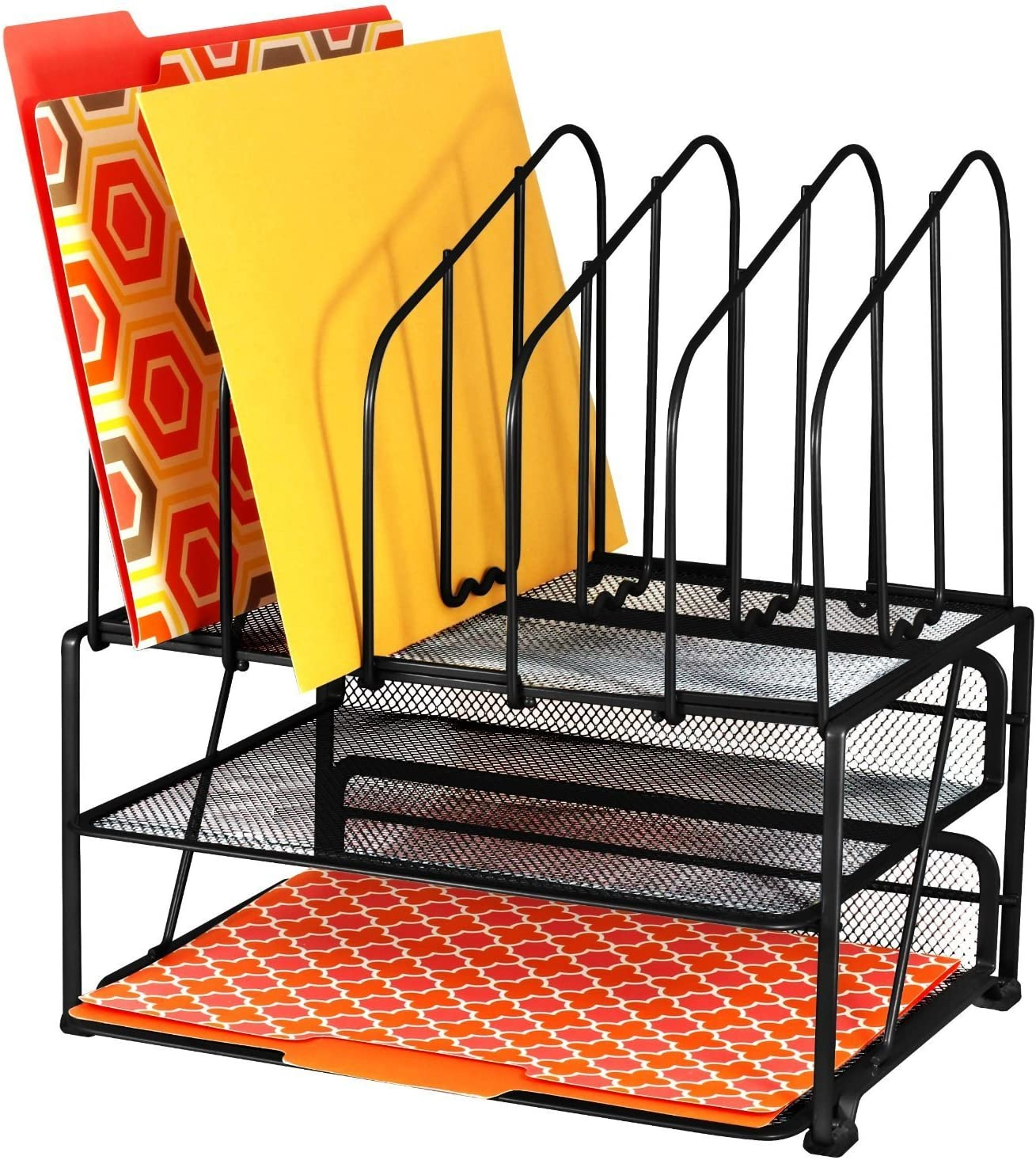 DecoBros Columbus Mall Mesh Desk Organizer with Double and 5 Upright Sect Sales of SALE items from new works Tray
