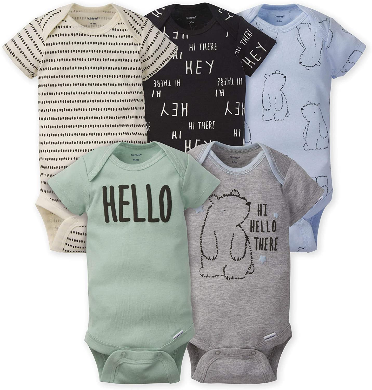 Gerber Max 57% OFF baby-boys 25% OFF 5-pack Onesies Bodysuits Variety