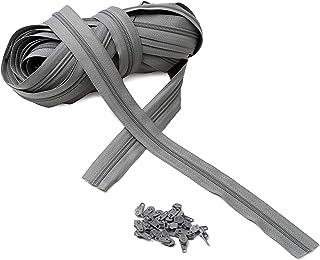 IPEA Fermeture éclair Lampo Taille 3# Chaîne continue - 10 mètres - Corde en nylon + 25 curseurs inclus - Zip - Coupe-cout...