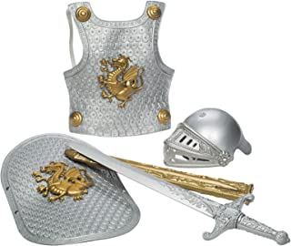 Toysmith Deluxe Knight in Shining Armor Set, Silver