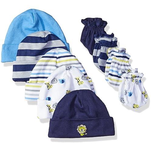 2731b308bfc Gerber Baby Boys  9-Piece Cap and Mitten Bundle