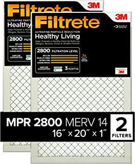 Filtrete 16x20x1, AC Furnace Air Filter, MPR 2800, Healthy Living Ultrafine Particle Reduction, 2-Pack