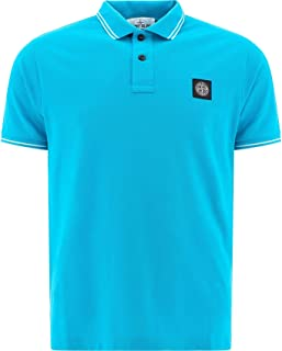 Stone Island Luxury Fashion Mens 101522S18V0042 Light Blue Polo Shirt | Spring Summer 20