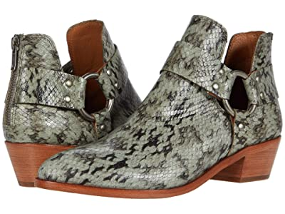 Frye Ray Harness Back Zip (Fatigue Polished Snakeskin) Women