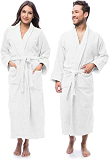 Luxury Bathrobe Towel, Spa Robe Combed Terry Cotton...