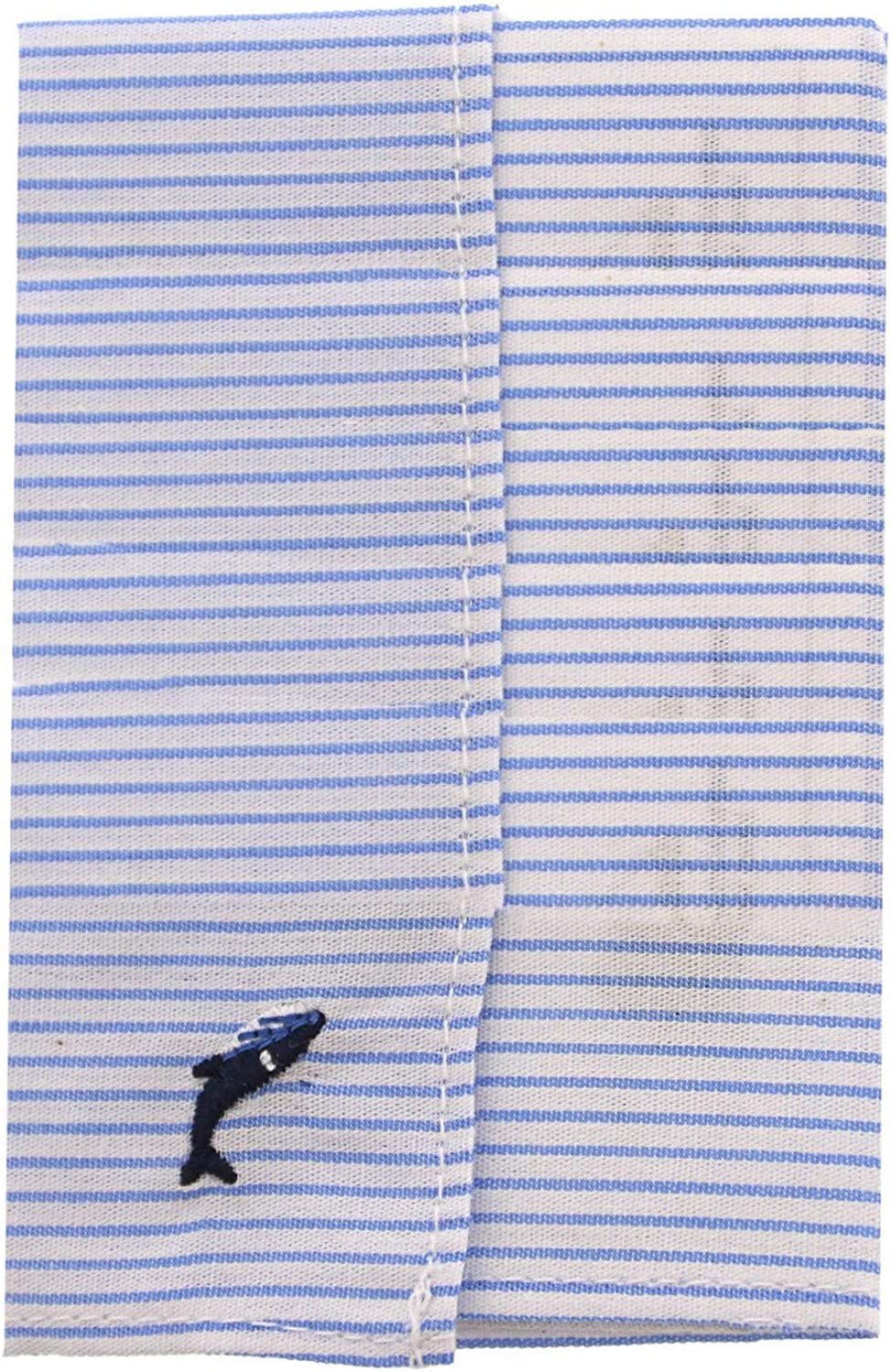 Janie And Jack Striped Embroidered Pocket Square