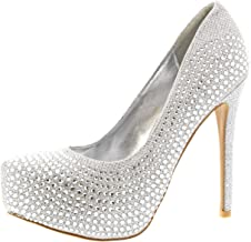 Mujer Stiletto Diamante Party Noche Alto Heel Plataformas Zapatos De La Cortes