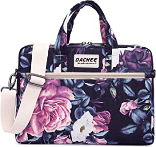 Dachee Laptop Shoulder Bag for 15 Inch/15.6 inch MacBook Pro Purple Purple Rose Shoulder 13 inch/13.3 inch