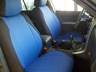 Brilliant Amazon Com Blue Leather Seat Covers Seat Covers Alphanode Cool Chair Designs And Ideas Alphanodeonline