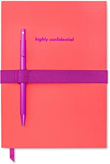 Kate Spade New York Lined Notebook with Black Ink Pen, 8.5