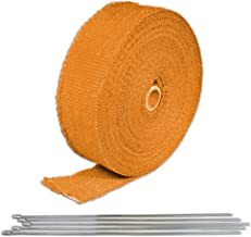 Orange Turbo Manifold Heat Exhaust Thermal Wrap Tape & Stainless Ties 2