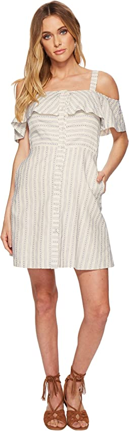 J.O.A. - Button Down Cold Shoulder Dress