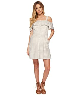 Button Down Cold Shoulder Dress