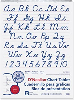 D'Nealian Chart Tablet, 24