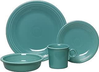 Fiesta 4-Piece Dinnerware Place Setting, Turquoise