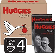 Huggies Special Delivery Hypoallergenic Baby Diapers, Size 4 (22-37 lbs.), 100 Count, Economy Plus Pack