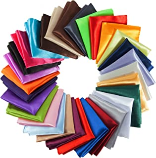 Mens Pocket Squares Handkerchief For Wedding Party, Solid Colors (30 Pieces) by TOPODO