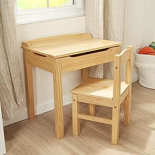 """Melissa & Doug Child's Lift-Top Desk & Chair (Kids Furniture, Honey, 2 Pieces, 16.1"""" H x 23.6"""" W x 23.2"""" L)"""