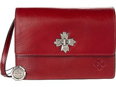 Patricia Nash Consilina Floret Twist Lock Crossbody (Red 1) Handbags