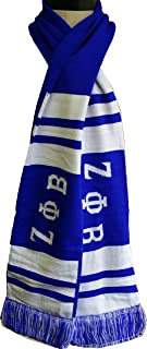 Buffalo Dallas Zeta Phi Beta Ladies 2-Ply Knit Scarf [Blue - 60