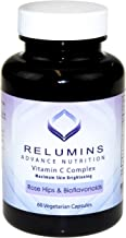 Relumins Advance Vitamin C - MAX Skin Whitening Complex With Rose Hips & Bioflavonoids - 60 Capsules (1 Month Supply) - New Smaller Bottle!