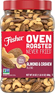 Sponsored Ad - FISHER Snack Oven Roasted Never Fried Almond & Cashew Blend, 24 Oz, Made With Sea Salt