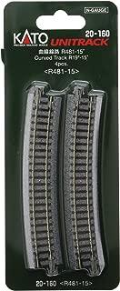 Radius 15-Degree Curve Track 718mm 28 1//4 Kato USA Model Train Products Unitrack 4-Piece