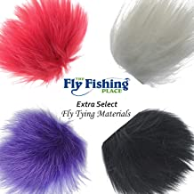 The Fly Fishing Place Fly Tying Materials - Finn Raccoon Fur Master Pack - 4 Colors - White Black Red Purple Tube Fly Streamer Hair