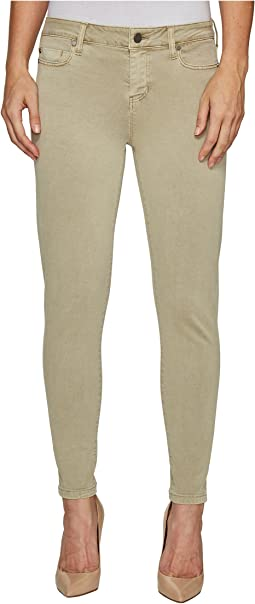 Devon Relaxed Ankle Skinny in Stretch Peached Twill in Pure Cashmere