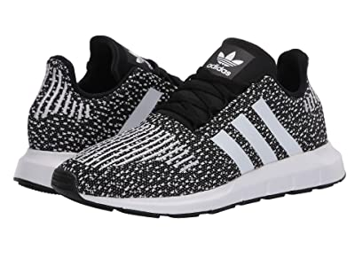 adidas Originals Kids Swift Run J (Big Kid) (Black/White) Kids Shoes