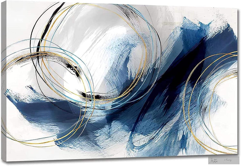 QEWA Wall Alternative dealer Art Canvas It is very popular Abstract Colorfu Fantasy Blue Paintings