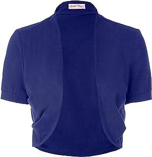 Belle Poque Women's Short Sleeve Shrug Open Front Cotton...