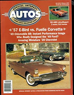 Special Interest Autos. SIA # 139. January February 1994. Hemmings Motor News. Single Issue Magazine. Cover: 1957 T Bird Corvette.