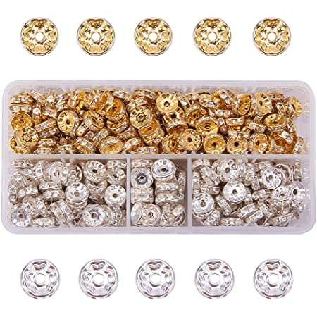 10pcs Colorful Brass Micro Pave Cubic Zirconia Beads Round Spacer Beads 8~10mm