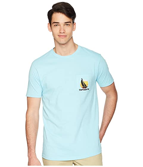 CAPTAIN FIN Moku Premium Pocket Tee, Sky Blue