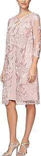 Alex Evenings Women's Tea Length Mock Jacket Dress (Petite and Regular Size)