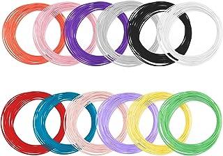 LUTER 3D Printergloeidraad 1,75 mm PLA Filament voor 3D Pen / 3D Printer (12 Verschillende Kleuren, Elk 3 m)