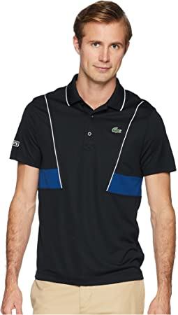 Lacoste Short Sleeve Pique Ultra Dry w/ Contrast Broken Yoke & Piping