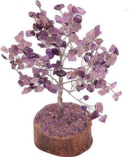 Árbol del dinero amatista piedra Feng Shui Bonsai para la buena suerte de equilibrio de Chakra Cristal Gema Energía decora...