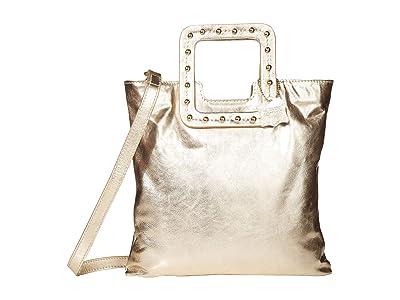TMRW STUDIO Mateo Studded Fold-Over Clutch (Gold) Handbags